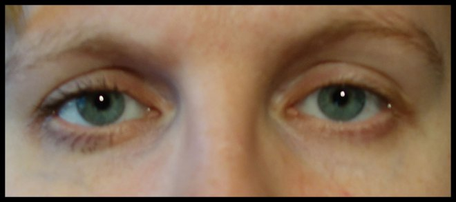 Before and after (with and without mascara)