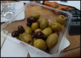 Olives are always good, and that's a reindeer bottle opener we still use in March