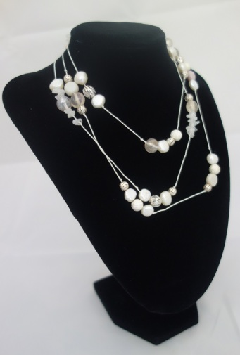 white long necklace