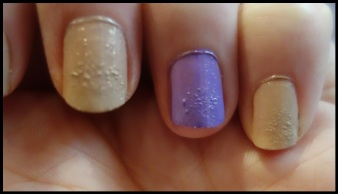 One coat of Trillion Taupe and Pear Purple