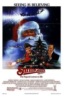 The Santa Claus the Movie poster with Dudley Moore
