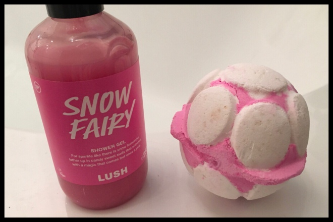 Next to a 250g bottle of Snow Fairy shower gel