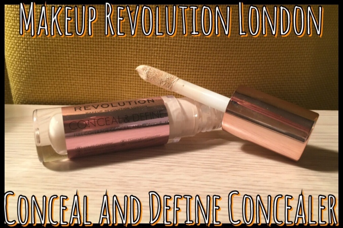 A title image with the Makeup Revolution concealer on it