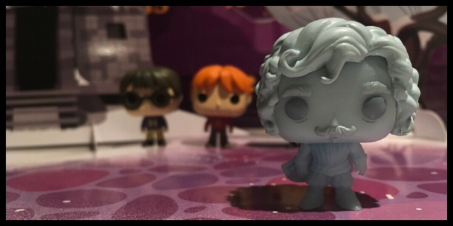 The Nearly Headless Nick Pocket Pop in the front with Harry and Ron behind
