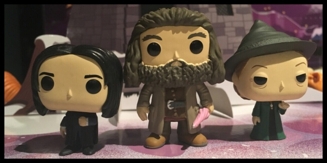It shows Hagrid in between the Snape and McGongall figures from the previous days
