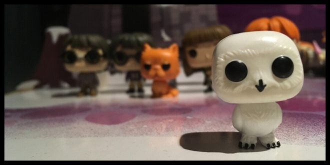 The front of the Hedwig Funko Pop Pocket Pop figure