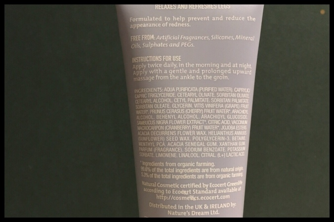 The back of the tube shows the list of ingredients