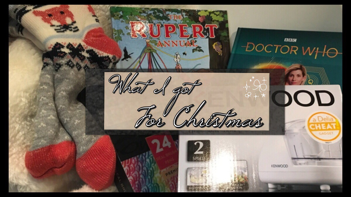 The title image with photos of some of the gifts behind it
