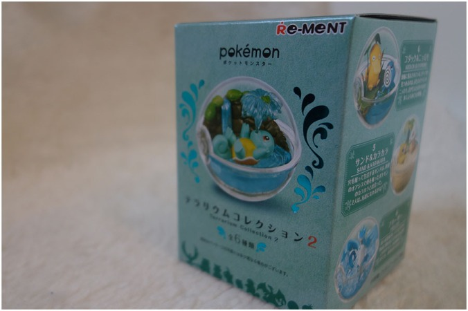 The individual boxes from the Pokemon re-ment terrarium collection
