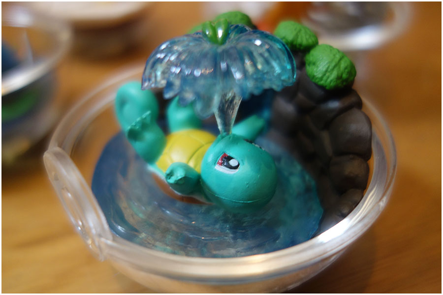 The detail up close for each of the Pokemon terrarium designs