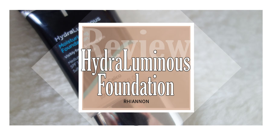 No7 Hydraluminous Foundation title image. Behind the text is a photo of the Hydraluminous foundation tube on a fluffy white background