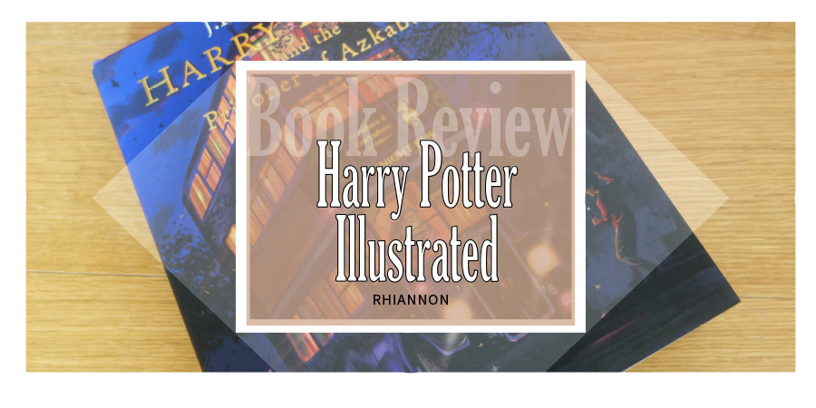 The title image for the review. It has a photo of the illustrated version of Harry Potter and the Prisoner of Azkaban behind a text box.