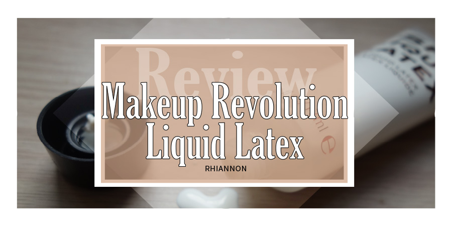 Liquid Latex title image. Behind the text box is a phot of the tube open and liquid latex dripping on the table