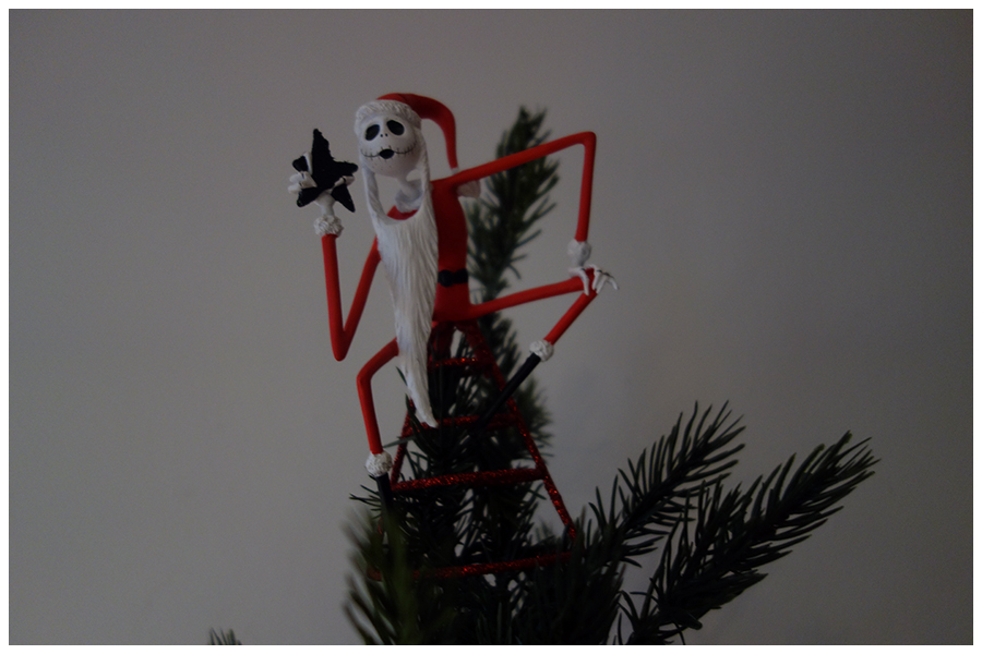 Jack Skellington Santa on the tree top
